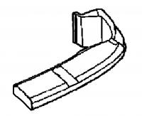 005; 2006 - 2010 Dodge Viper SRT10 Coupe Right Rear Bumper Foam - 5030318AB