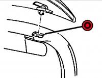1997 - 2002 Dodge Viper RT/10 Windshield Frame Right Insert Cap - RC76DX9AA
