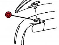 1997 - 2002 Dodge Viper RT/10 Windshield Frame Left Insert Cap - RC77DX9AA