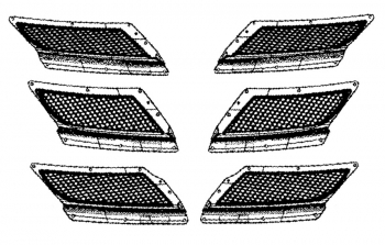 2008 - 2010 Dodge Viper SRT10 Hood Screen Vent Set