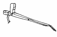 008; 1992 - 1996 Dodge Viper Right Windshield Wiper Arm - 04643131