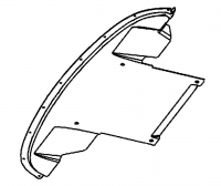 009; 2003 - 2010 Dodge Viper SRT10 Front Belly Pan Extension - 05290136AE