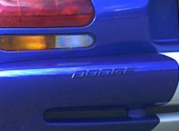 000; 1996 - 1997 Dodge Viper GTS Blue Rear DODGE Emblem - 0GC54SBB