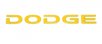 000; 2005 - 2006 Dodge Viper SRT10 Rear DODGE Decal in YELLOW - 0WN80WYTAC