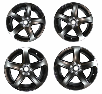 001; 2017 SRT Viper Rattler 5-Spoke Hyper Black Aluminum Wheel SET of FOUR!