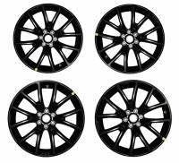 001; 2013 SRT Viper GTS Venom Matte Black Aluminum Wheel FRONT 1TZ80RXFAA