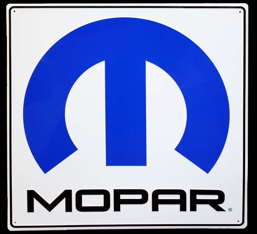 000 Mopar Painted Metal Sign Very Large 30 Quot X 30