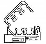 000; 1992 - 2004 Dodge Viper Spark Plug Wire Separator Loom - 05245237AB