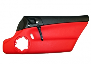 000; 2003 - 2010 Dodge Viper SRT10 Right Interior Door Panel in Red - 0XC921XRAC