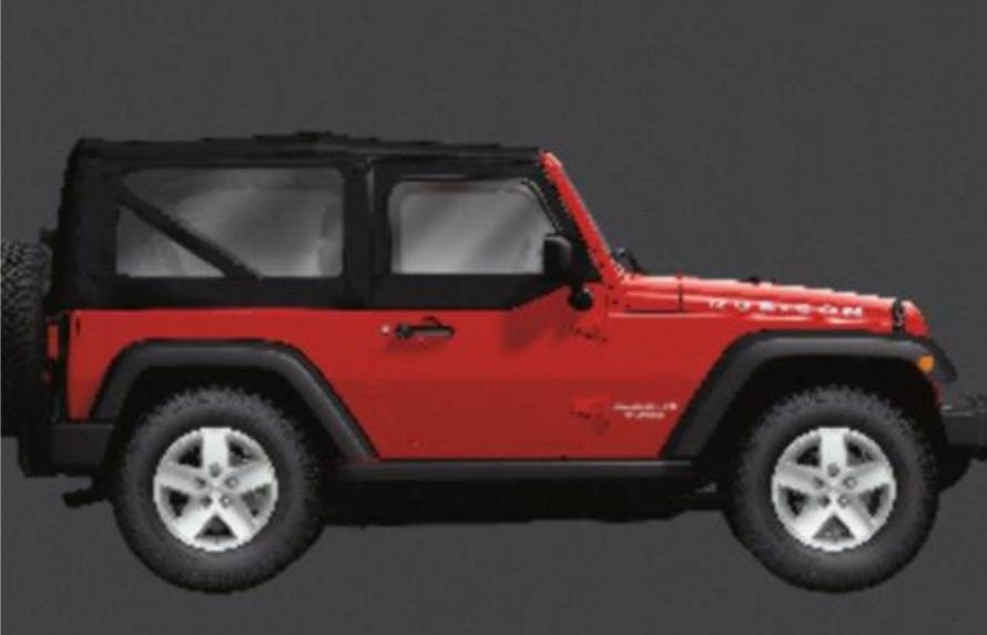 2007   2013 Jeep Wrangler 2 Door Soft Top Kit   82213649