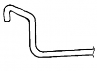 000; 1996 - 2002 Dodge Viper Heater Return Tube - 05245458AC