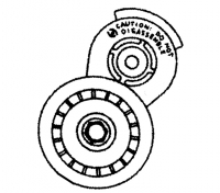 009; 1992 - 2002 Dodge Viper Accessory Drive Belt Tensioner Package - 04626444AB