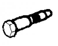 1992 - 1996, 2000 - 2001 Dodge Viper Upper Seat Belt Bolt - 06034459