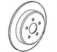 1997 - 2002 Chrysler Plymouth Prowler Rear Brake Rotor - 04815750