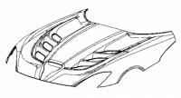 2013 SRT Viper SRT 6-Vent Hood - 68199408AD