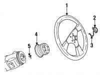 009; 92-96 Center Steering Wheel, Horn button
