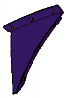 2003-2010 Viper Hinge Cover, LH, Violet - 05029245AA