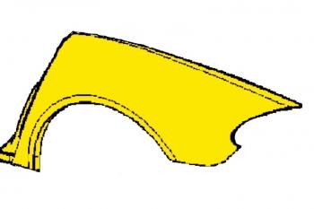 005; 2003 - 2010 Dodge Viper SRT10 Roadster Left Quarter Panel Yellow 4865797AE