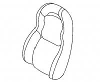 000; 1997 - 2002 Dodge Viper Left Side Seat Back - 0SN611X9AA
