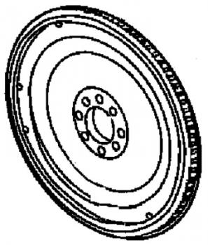 005; 2008 - 2010 Viper Flywheel Including Ring Gear - 05037965AB