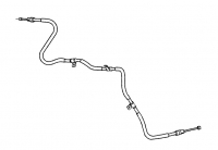 000; 1996 - 2002  Dodge Viper  Parking Brake Cable - 04763181