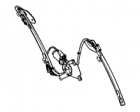 009:2003 - 2013 Dodge Viper SRT10 Left Window Regulator - 04865611AI