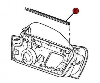 000; 2003 - 2010 Dodge Viper SRT10 Inner Door-Window Weatherstrip Right - 4865578AE