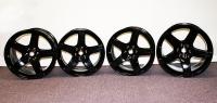 Dodge Viper OEM Black Powdercoat Five Spoke Wheel Set - 5290866AA 5290868AA