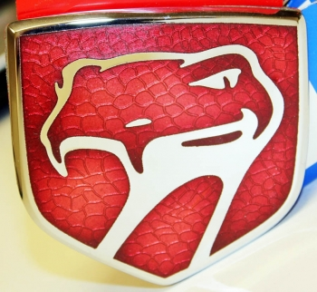 000; 1992 - 1997 Dodge Viper Front Fascia Medallion in Red - 0JW27M1R