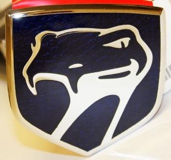 000; 2001 Dodge Viper Front Fascia Medallion Ornament in Sapphire Blue - 0PF0004B