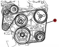008; 1996 - 2002 Dodge Viper A/C Drive Belt - 04763795AD