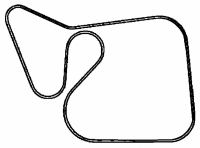 000; 2003 - 2006 Dodge Viper Accessory A/C Drive Belt - 05037206AD